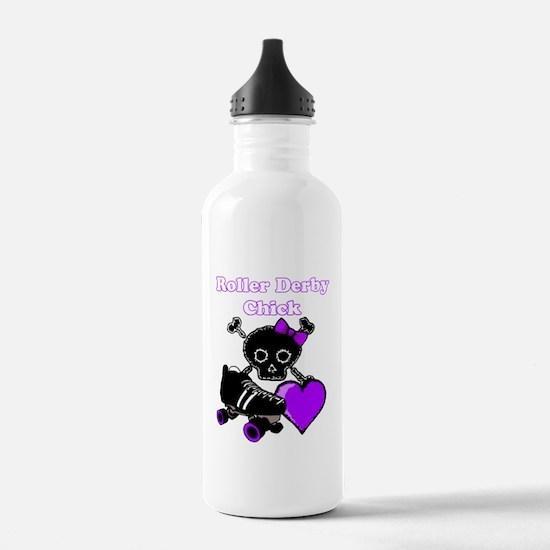 Roller Derby Chick (Purple) Water Bottle