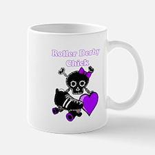 Roller Derby Chick (Purple) Mugs