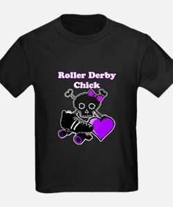 Roller Derby Chick (Purple) T-Shirt