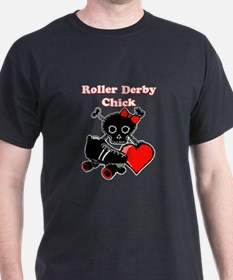 Roller Derby Chick (Red) T-Shirt