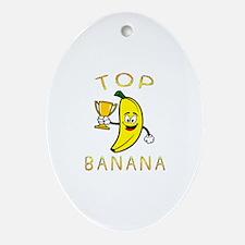 Unique Banana Oval Ornament