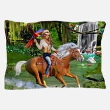 Enchanted Jungle Rider Pillow Case