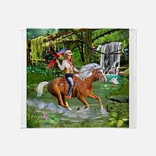 Enchanted Jungle Rider Throw Blanket