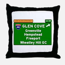 I495 - LONG ISLAND EXPRESSWAY - GLEN Throw Pillow