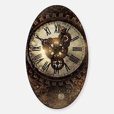 Vintage Steampunk Clocks Decal