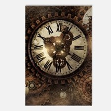 Vintage Steampunk Clocks Postcards (Package of 8)