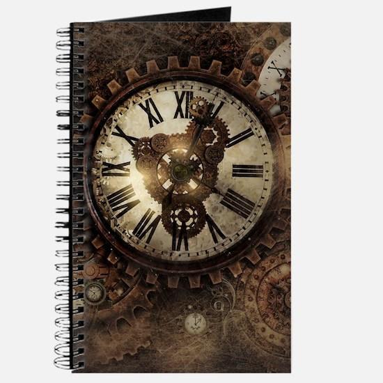 Vintage Steampunk Clocks Journal