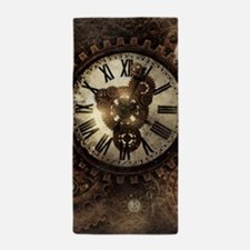 Vintage Steampunk Clocks Beach Towel