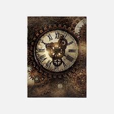 Vintage Steampunk Clocks 5'x7'Area Rug