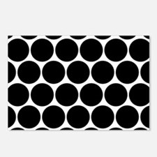 Black And White Polka Dot Postcards (Package of 8)