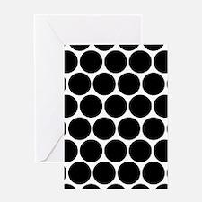 Black And White Polka Dot Pattern Greeting Cards