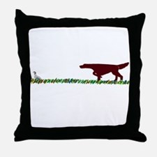 Irish Setter in the Field Throw Pillow