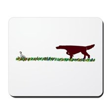 Irish Setter in the Field Mousepad