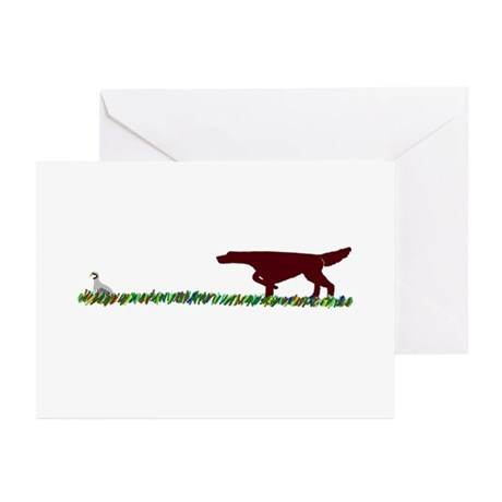 Irish Setter in the Field Greeting Cards (Pk of 10