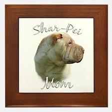 Shar Pei Mom2 Framed Tile