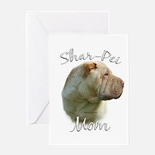 Shar Pei Mom2 Greeting Card