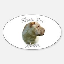 Shar Pei Mom2 Oval Decal