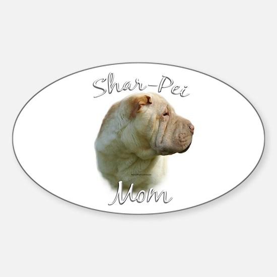 Shar Pei Mom2 Oval Decal
