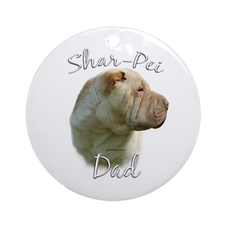 Shar Pei Dad2 Ornament (Round)