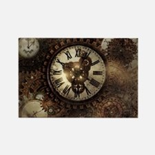 Vintage Steampunk Clocks Magnets