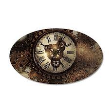 Vintage Steampunk Clocks Wall Decal