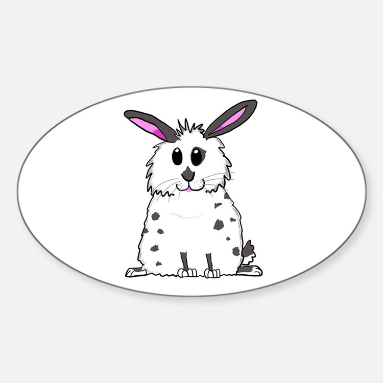 Black and White Fluffy chubby bunny design Decal