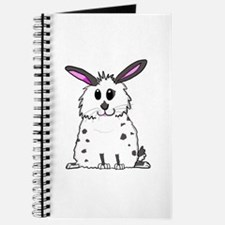 Black and White Fluffy chubby bunny design Journal