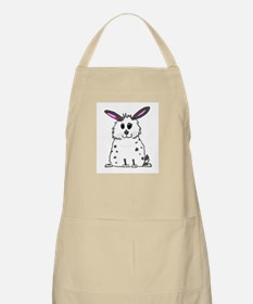 Black and White Fluffy chubby bunny design Apron