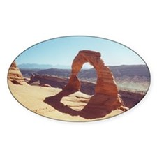 Delicate Arch Oval Decal