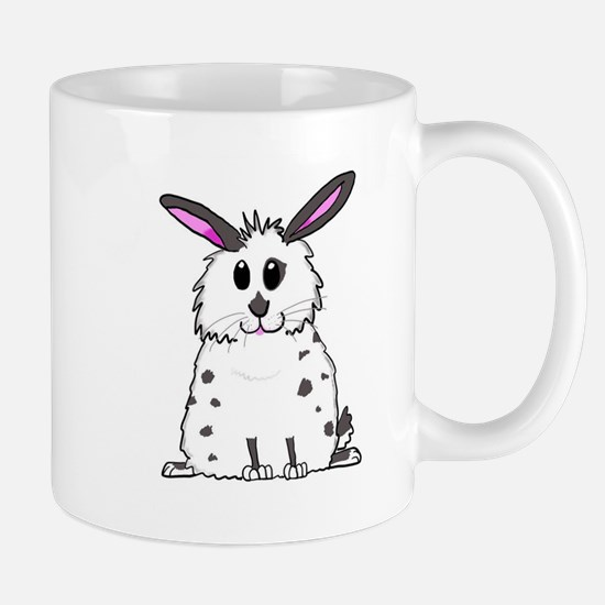 Black and White Fluffy chubby bunny design Mugs