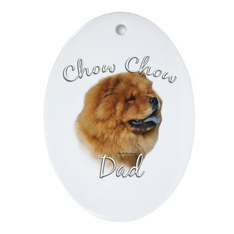 Chow Dad2 Oval Ornament