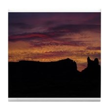 Monument Valley Sunset Tile Coaster