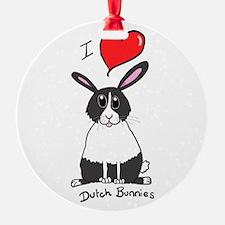 I love Dutch bunnies chubby bunny Ornament