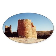 Native American Ruins Oval Decal