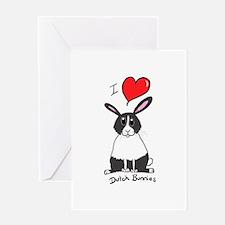 I love Dutch bunnies chubby bunny Greeting Cards