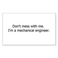 Mechanical Engineering Rectangle Decal