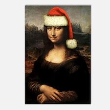 Mona Lisa Santa Postcards (Package of 8)