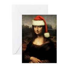 Mona Lisa Santa Greeting Cards (Pk of 20)