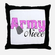 Army Niece  Throw Pillow
