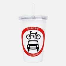 Cute Red car Acrylic Double-wall Tumbler