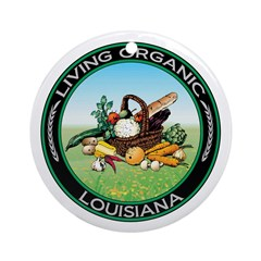 Living Organic Louisiana Ornament (Round)