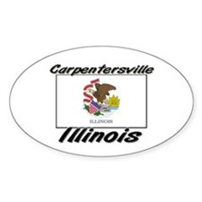 Carpentersville Illinois Oval Decal