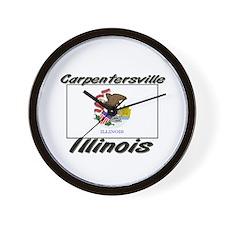 Carpentersville Illinois Wall Clock