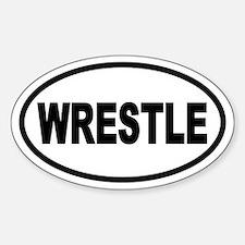 Basic Wrestling Oval Decal