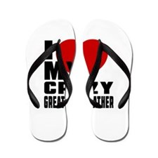 I Love Great GrandFather Flip Flops