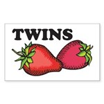 Twins Two of a Kind Maternity Sticker (Rectangular