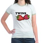 Twins Two of a Kind Maternity Jr. Ringer T-Shirt