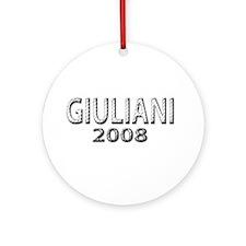 Giuliani 2008 Ornament (Round)