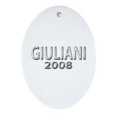 Giuliani 2008 Oval Ornament