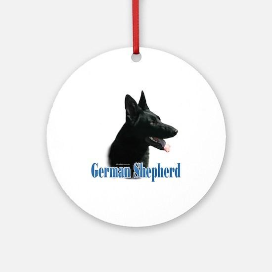 GSD(black) Name Ornament (Round)